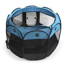 Tente pliable Portable   Tente pour chien, Cage de maison pour chien, tente de chat, parc pour chiot, niche, opération facile, clôture en octogone # B