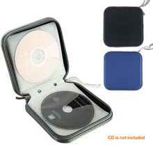 Caja de CD 40 caja de disco bolsa resistente al agua Portable CD titular DVD Estuche Organizador de la caja de la carpeta de plástico Porta CD Estuche Organizador
