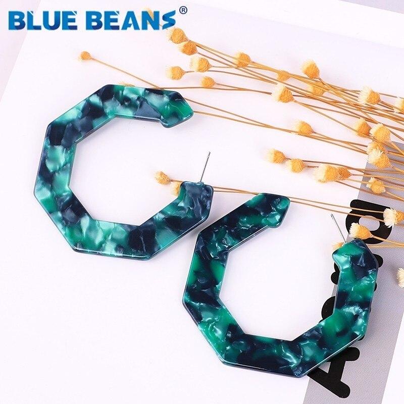 Green Earrings Acrylic Boho Acetate Drop Fashion For Women Geometric Big Dangle Drop Earings Resin statement gift Jewelry 2019cc