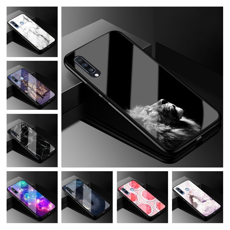 Para Samsung Galaxy S20 Ultra Nota 10 Plus de templado de vidrio de la cubierta caso 70 parachoques para Samsung A70 A50 caso 50 30 s