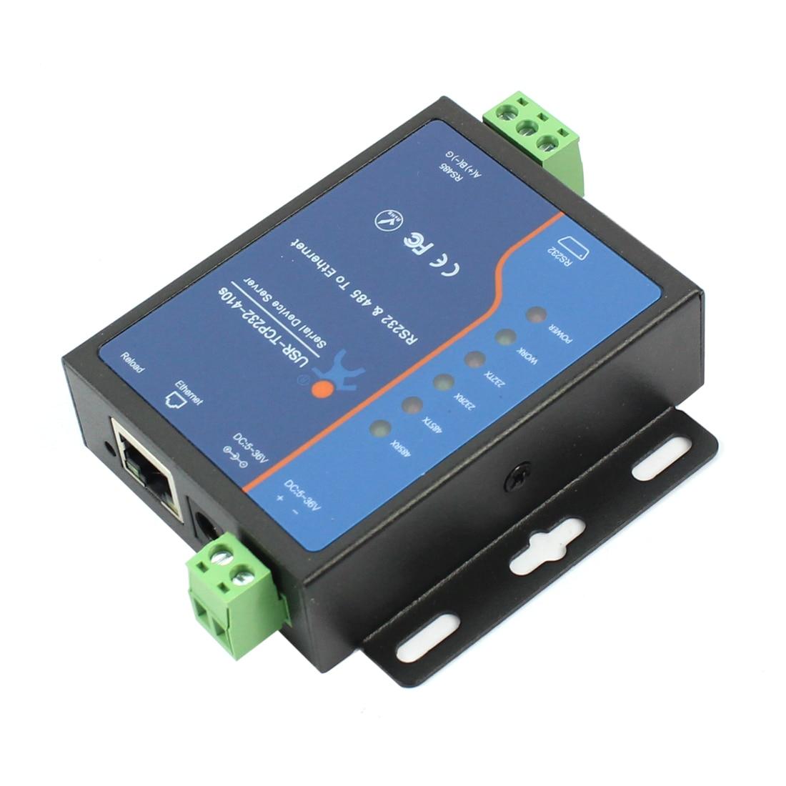 Терминал питания USRIOT USR-TCP232-410S Q18039, RS232 RS485 к TCP/IP конвертер, серийный Ethernet