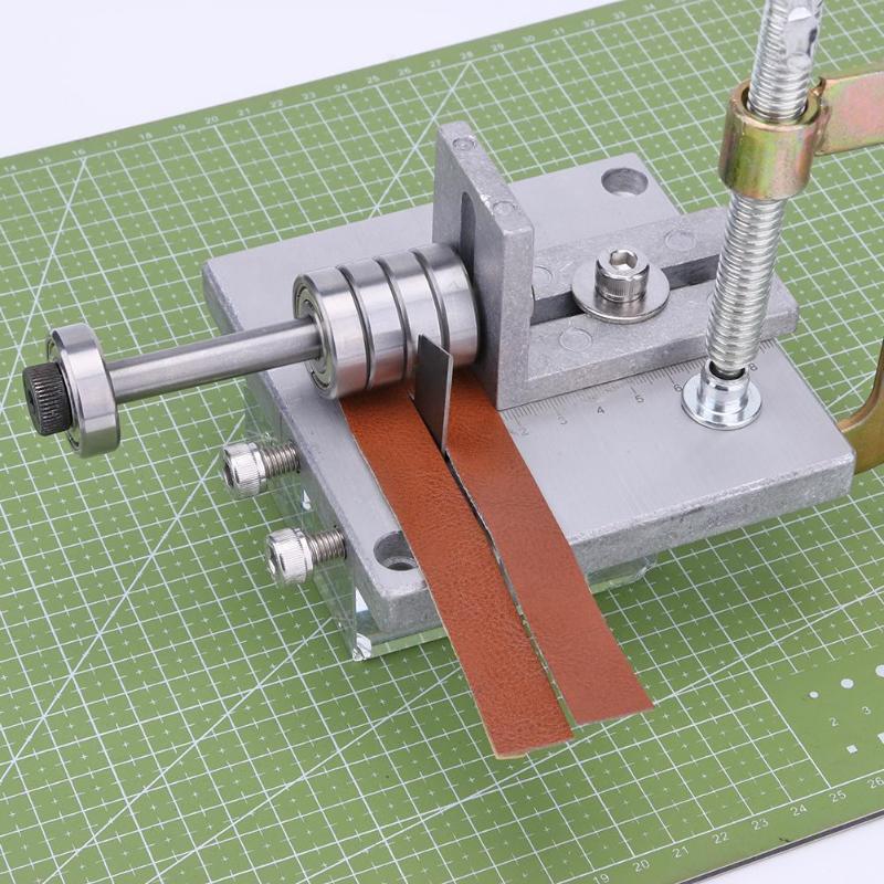 Adjustable Splitter Paring Tool Strap Belt Cutting Machine Skiver Leather Craft DIY Leather Tools