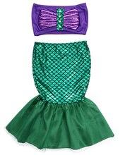 Pudcoco Baby Girls the mermaid tail princess ariel dress cosplay costume kids for girl fancy green dress
