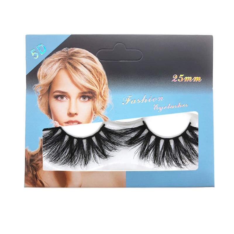 5D Mink false eyelash thick super long 25mm fake lashes hand made reusable 12 styles available 200pairs/lot DHL Free
