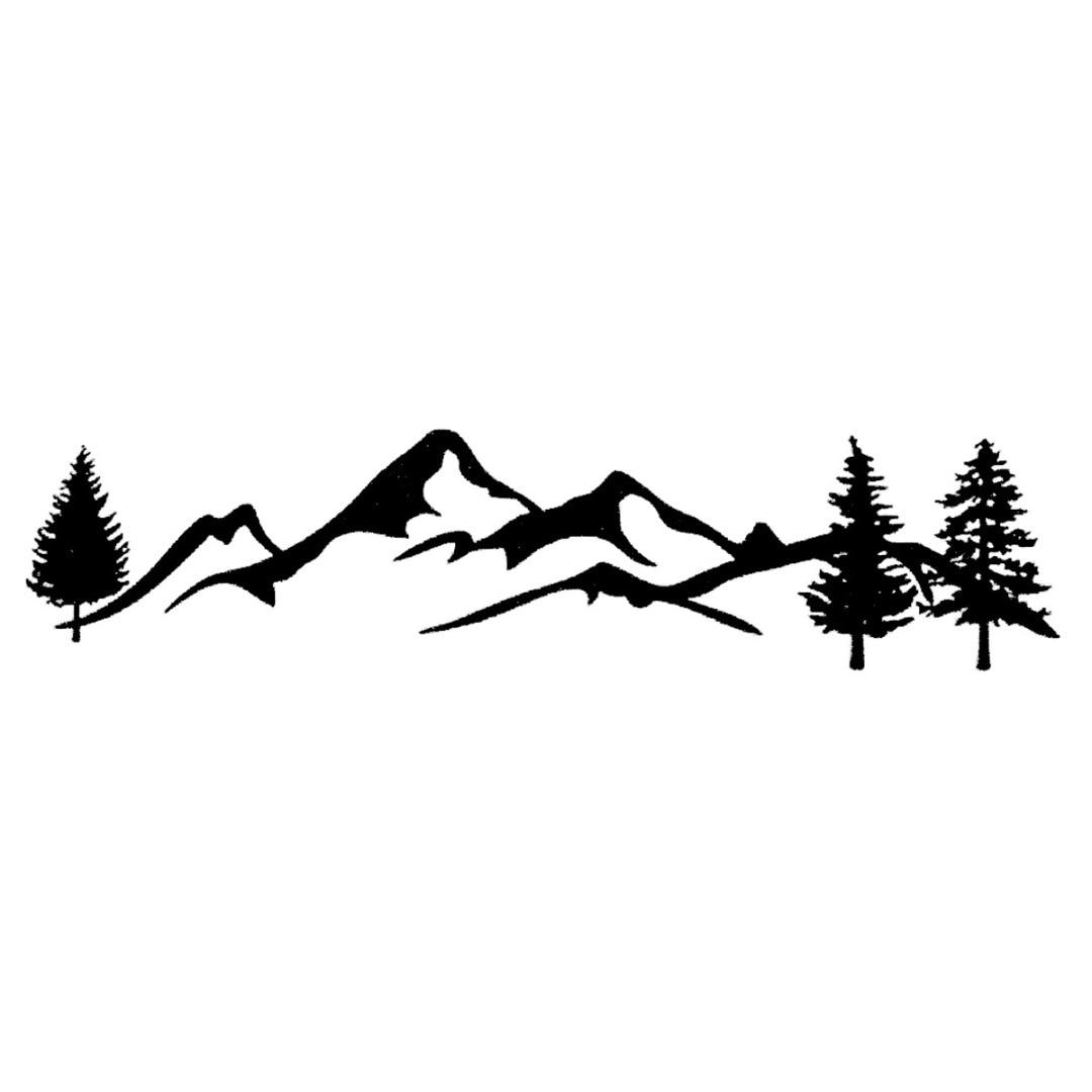 Mayitr, 1 unidad, 100 cm, pegatina de árbol de montaña para coche, 2 colores, pegatina de bosque reflectante para mascotas, para SUV, caravana, todoterreno