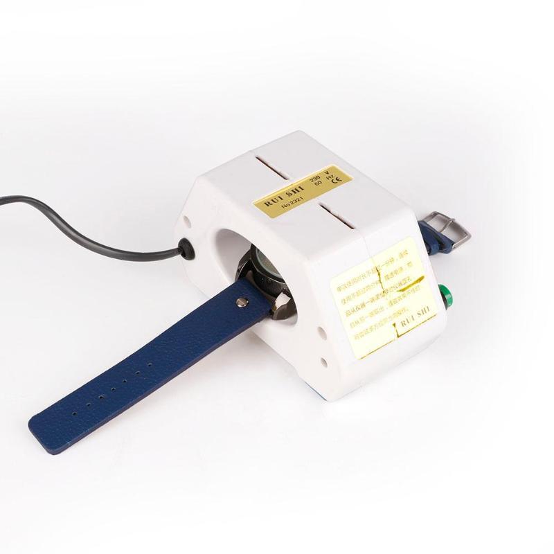 Relógio desmagnetizador relógio reparação chave de fenda pinças elétrica profissional ferramenta para relojoeiro usplug ue