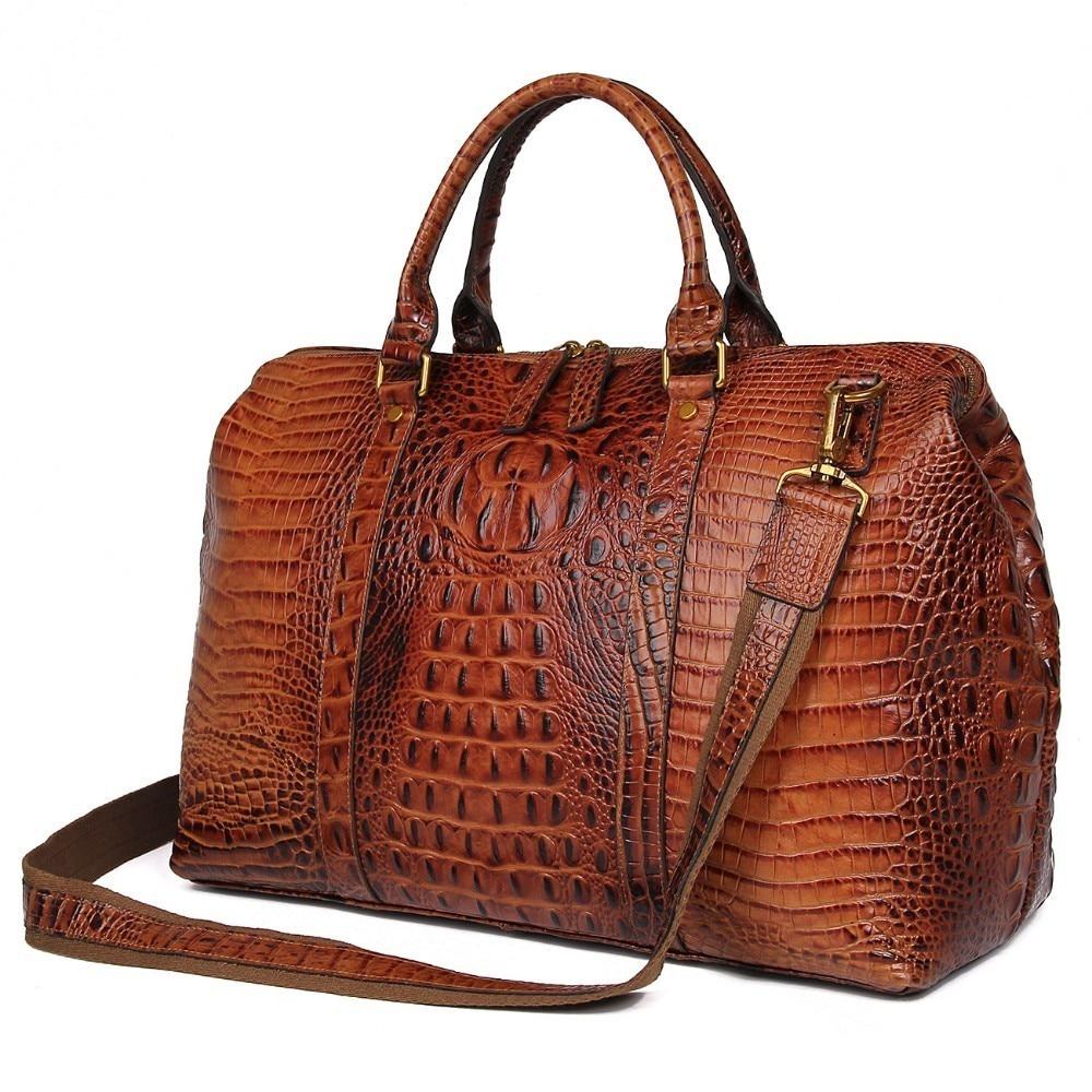 Роскошные Брендовые мужские дорожные сумки из воловьей кожи, ручные чемоданчики, большие дорожные сумки-тоуты для выходных, спортивные сум...