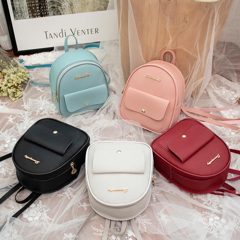 Мини-рюкзак, женская сумка из искусственной кожи для девочек-подростков, Детский многофункциональный маленький рюкзак, Женский школьный рюкзак
