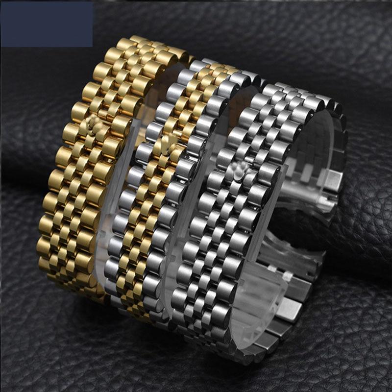 Accesorios de reloj correa de acero hombre 20mm deportes impermeable para la serie de lujo de relojes de la serie de cinco cuentas de correa sólida completa de las mujeres