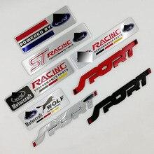 FORD Focus 2 Focus 3 FIESTA   Autocollant demblème daccessoires de style automobile, autocollant de voiture ST Racing sport pour FORD, Mondeo
