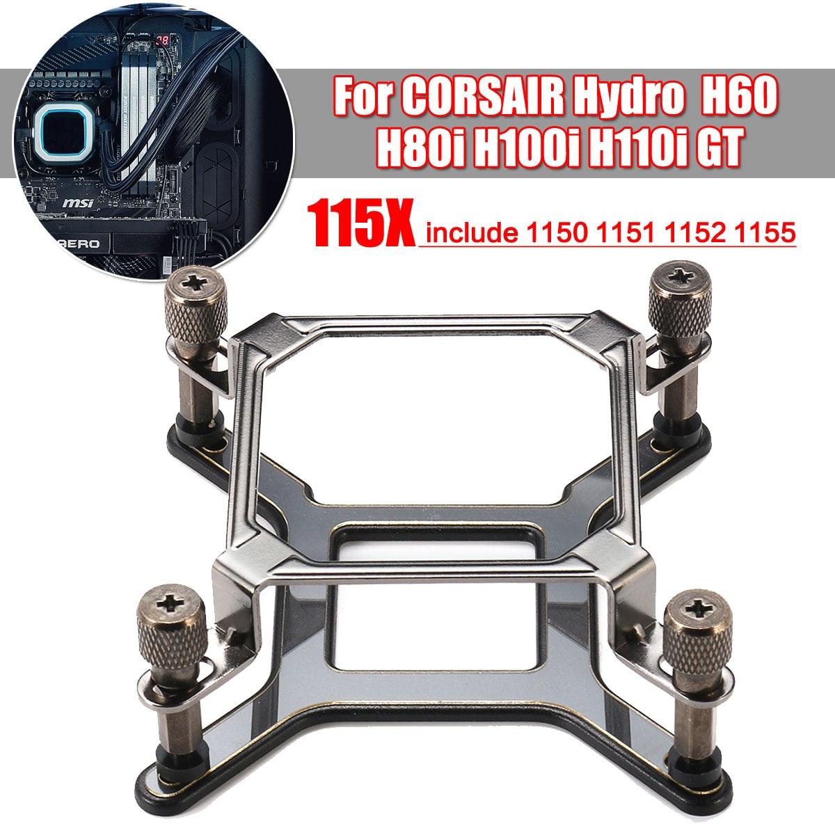 Refrigerador de Água Suporte de Montagem + Ferragem para Corsair gt para Intel Hydro H100i H110i Lga 1150 1151 1155 1156 115x Cpu H60 H80i