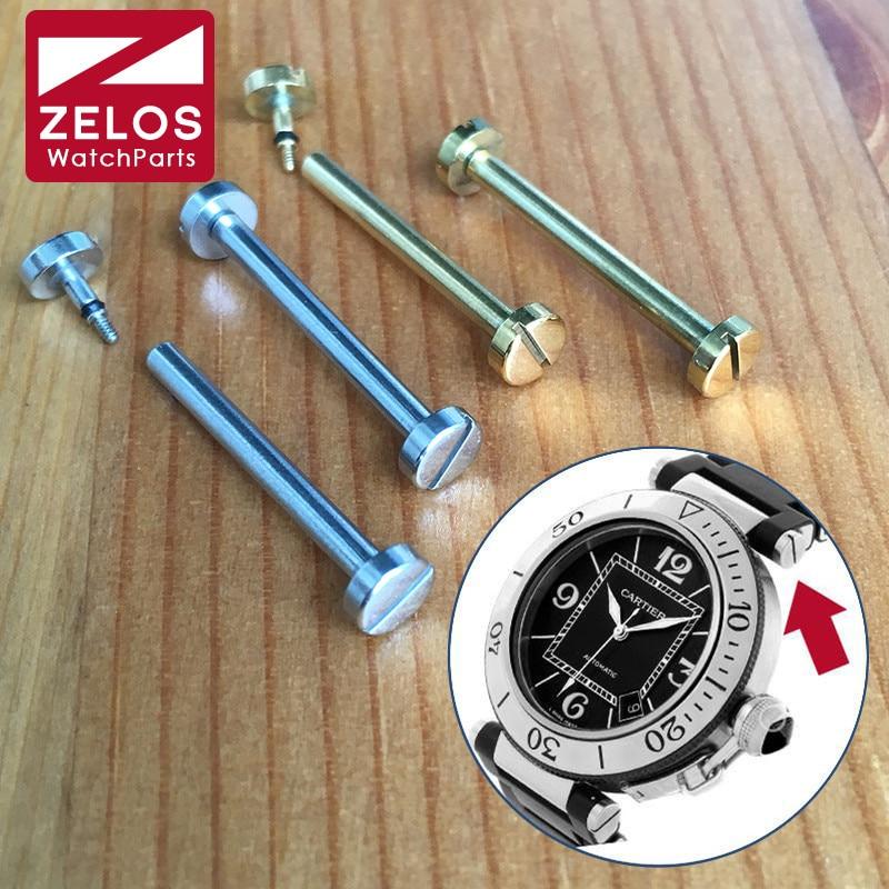 2 unids/set 24,7mm Barra de tornillo tubo varilla para cartier pasha cerámica reloj Correa enlace piezas y herramientas
