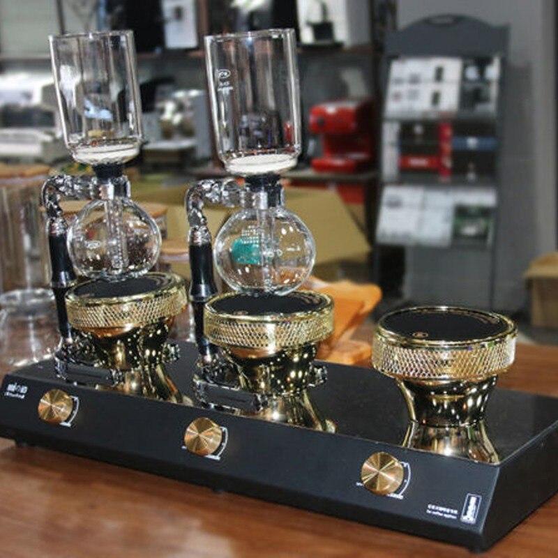 3 head Halogen Beam Heater Burner Infrared Heat fr Hario Yama Syphon Coffee Maker