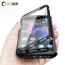 CASEIER 360 كامل غطاء حقيبة لهاتف سامسونج Calaxy A7 2018 10 S9 S8 زائد واضح الهاتف حقيبة لهاتف سامسونج S7 ملاحظة 8 9 J4 J6 A5 A8 غطاء
