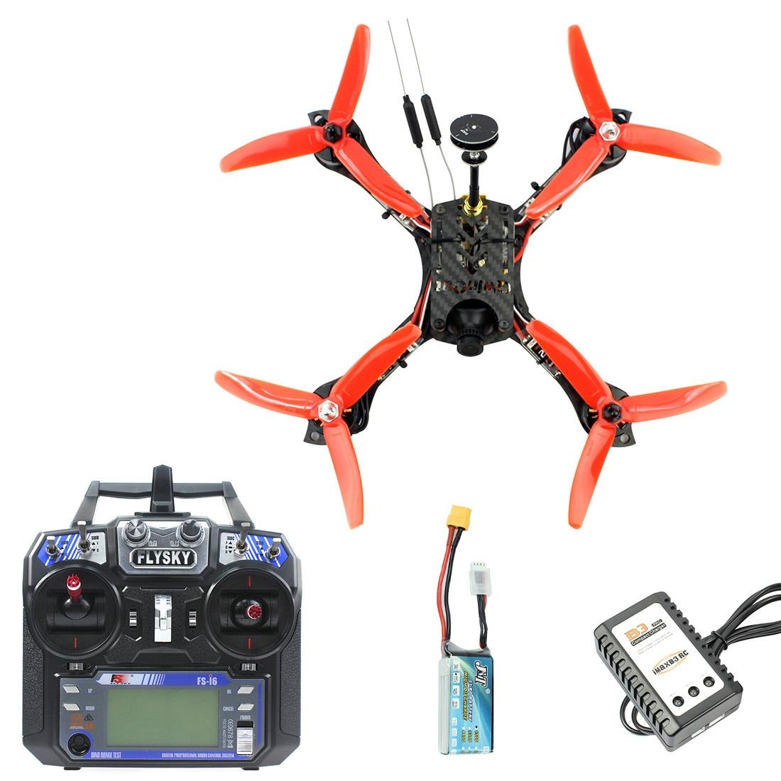 JMT 210mm RTF FPV hexacóptero Racer aviones Dron con Mini Flysky FS I6 transmisor F4 Pro (V2) partes de control de vuelo