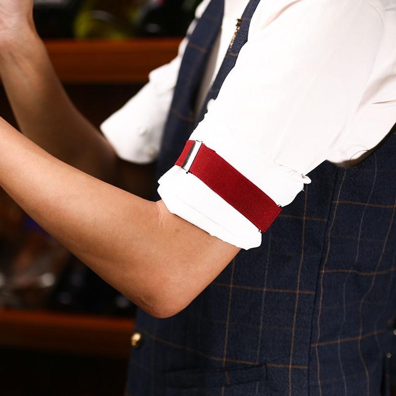 2 pcs / 1 pair High-end Elegance Man Shirt Sleeve Holders adjustable Elastic Wedding Bride Groom Armband Accessories Adult H001