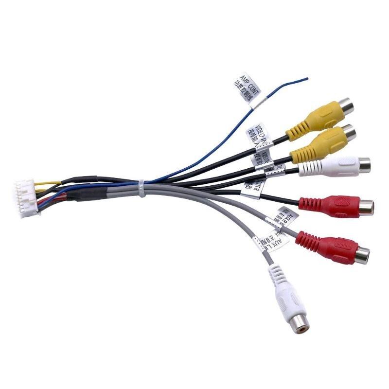 VODOOL 20Pin macho a 6x3,5mm hembra RCA auto Audio estéreo Cable de adaptador hembra de 3,5mm Jack de Audio AV conector de arnés de cableado de Cable