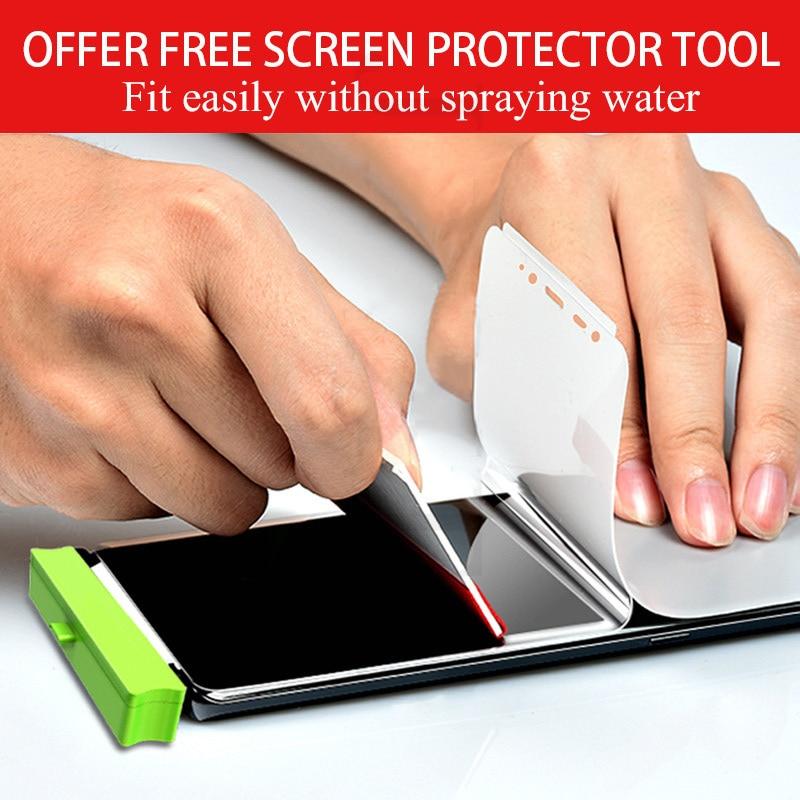 Película de hidrogel suave de cubierta completa 3D para Samsung Galaxy S20 S10 S8 S9 Plus Note 10 9 Plus S20 Ultra Protector de pantalla S10 5G S9