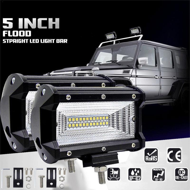 12V 24V 5INCH 72W LED WORK LIGHT BAR FLOOD LIGHT CAR TRUCK SUV BOAT ATV 4X4 4WD TRAILER WAGON PICKUP DRIVING LED Fog Light