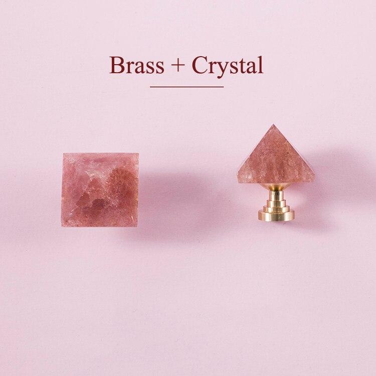 Forma piramidal/cristal + perilla de latón tiradores de cajón de tocador tiradores/perillas enfriadoras de vino muebles tirador de gabinete Hardware