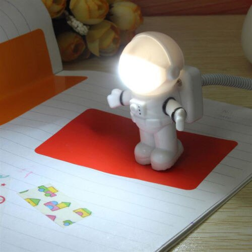 Mini Lámpara de lectura, tubo USB para ordenador, portátil, PC, Notebook, astronauta portátil blanco puro, luz LED nocturna ajustable