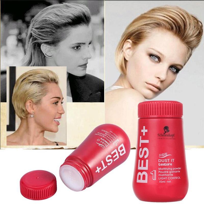 Pó de tratamento capilar, dourado, para aumento do volume do cabelo, corte de cabelo, unissex, tslm1