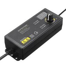 LEORY Универсальный светодиодный адаптер питания, 3 24 В, 1,5 А, с регулируемым напряжением, вилка стандарта ЕС и США