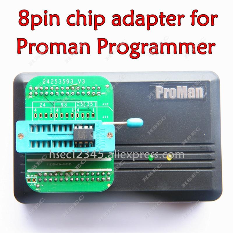2019 el más nuevo 24 25 35 93 V3 serie 8pin chip conector adaptador para ProMan TL86-PLUS Porgrammer 8Pin adaptador envío gratis
