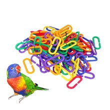 100 Pcs Rat Parrot Bird Toy Parts C-links Sugar Glider Parakeet Bird Accessories Hooks Chain C-clips Plastic Parrot Toys