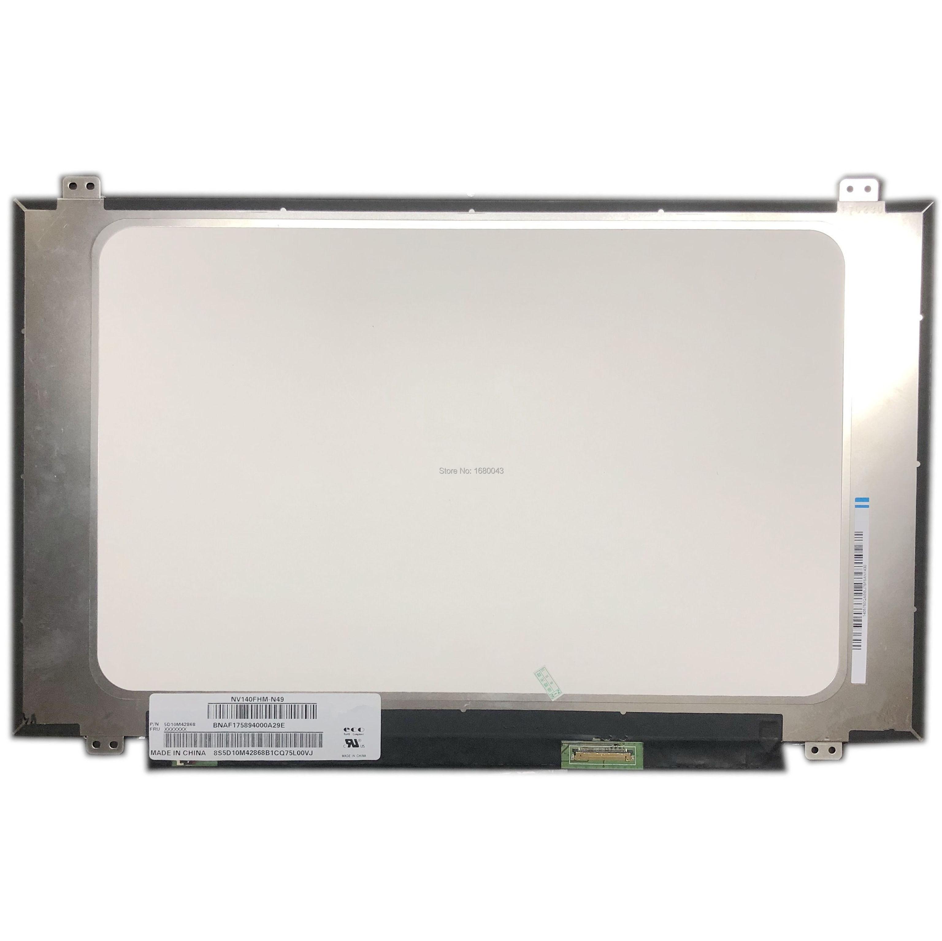 "NV140FHM-N49 ajuste NV140FHM-N48 NV140FHM-N62 LED pantalla LCD para 14 ""IPS FHD 1080P EDP LCD Panel LED"