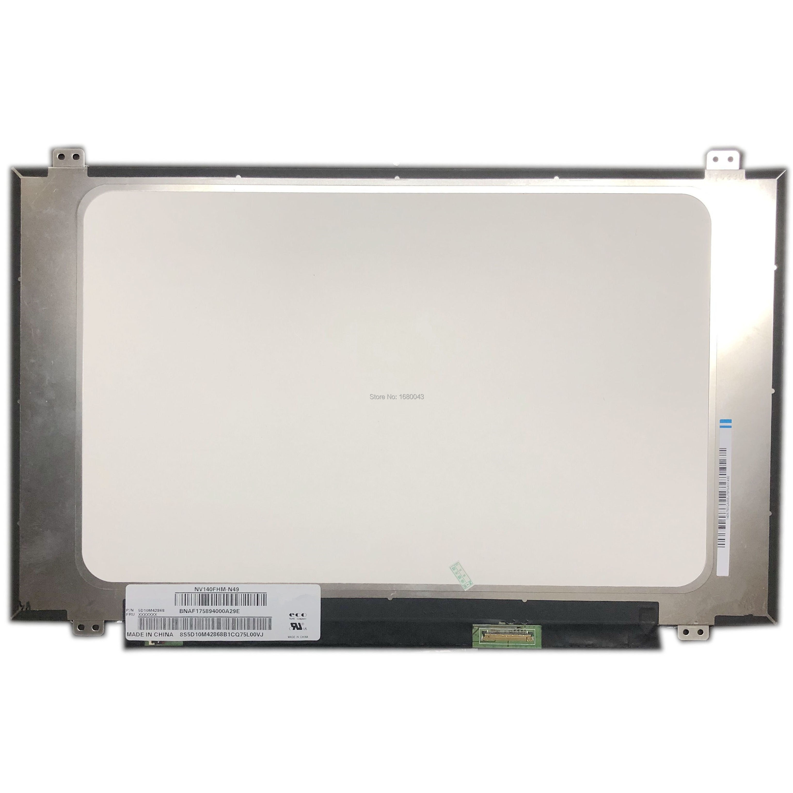 "NV140FHM-N49 pasuje do NV140FHM-N48 NV140FHM-N62 doprowadziły ekran LCD dla 14 ""IPS FHD wyświetlacz 1080P LCD EDP Panel LED"