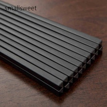 Baguettes noires en porcelaine   10 couleurs/ensemble baguettes noires, motif baguettes noires, ustensiles de cuisine, vaisselle ménage baguettes de 27cm