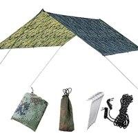 Waterproof Uv Protection Hammock Rain Fly Tent Tarp Multi Function Camping Tarp Beach Tent Shade Camping Sunshade Canopy
