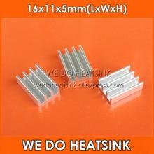 FREE Shipping 50pcs 16x11x5mm Extruded Aluminum Radiators Extrusion Aluminium Heatsink For IC DC Converter