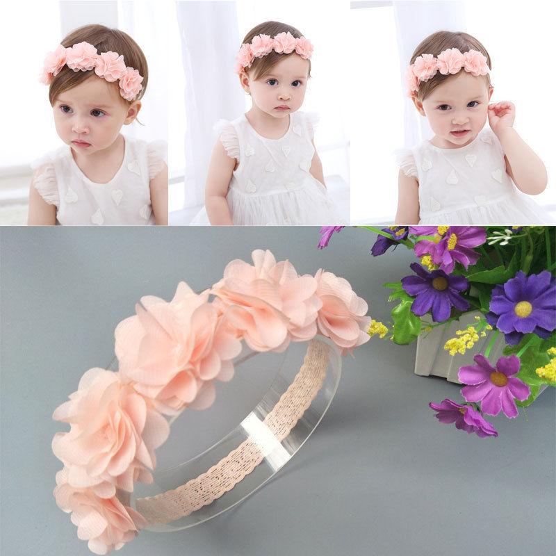 Детский головной убор Pudcoco для маленьких девочек; Повязка на голову с цветком для маленьких девочек; Аксессуары для волос