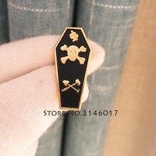 Épinglettes à revers Akasha Masonic   Feuille dacacia, Badge métal émail, cercueil, broche maître maçon, planche de traçage, tête de mort