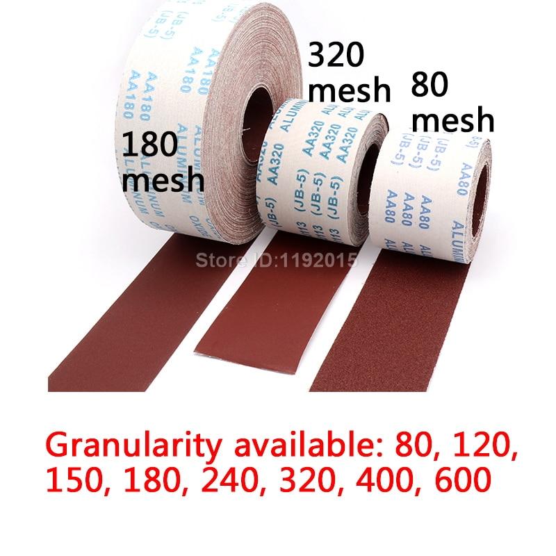 1 metro 80-600 carta abrasiva per lucidatura in rotolo di tela - Utensili abrasivi - Fotografia 3