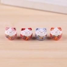 6pcs Ceramic Creative Lucky Cat Birthday Gift Cute Decoration Office Decoration