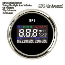 새로운 52mm 오토바이 GPS 주행 속도계 기어 표시기 오일 압력 연료 디스플레이