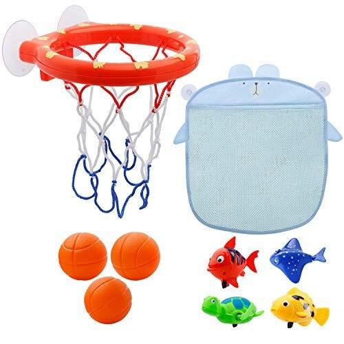 1 pc Lustige Baby Dusche Boy Badezimmer Spielzeug Baby Bad Spielzeug Lagerung Basketball Hoop Und Bälle Spielset Sommer Spielzeug Für kinder # TC