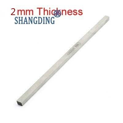 1 ud. De broca de herramienta HSS de fresado de torneado, broca de herramienta gris de 2mm de espesor x40/45/50/60/80/100mm x 200mm de longitud