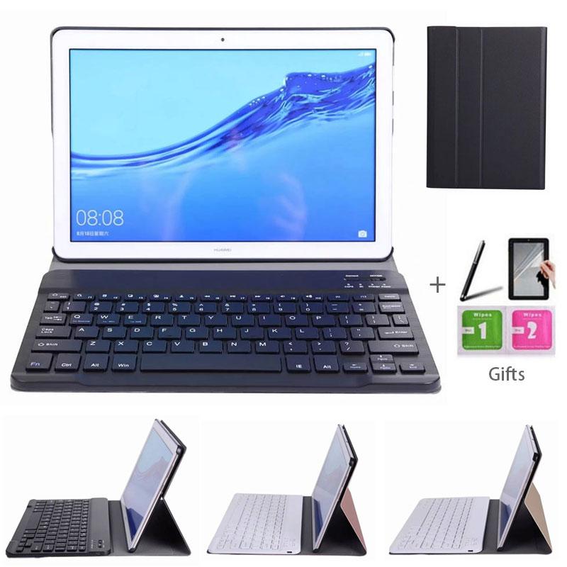 Removível Bluetooth Keyboard Case Capa Suporte para Huawei MediaPad T5/Honor Pad 5 10.1 polegada Tablet
