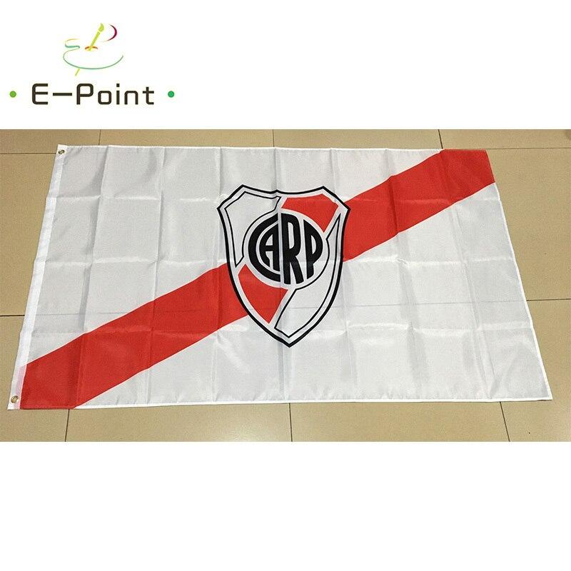 River Plate Argentina FC, 3 pies x 5 pies (90x150cm), tamaño de adornos navideños para el hogar, bandera, Banner tipo A, regalos