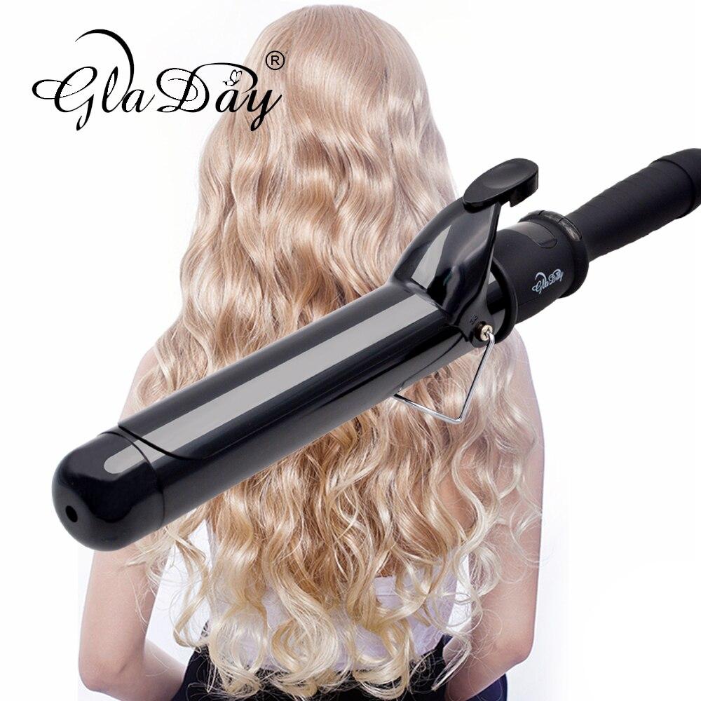 Щипцы для завивки волос, профессиональные цифровые щипцы для завивки волос, 38 мм