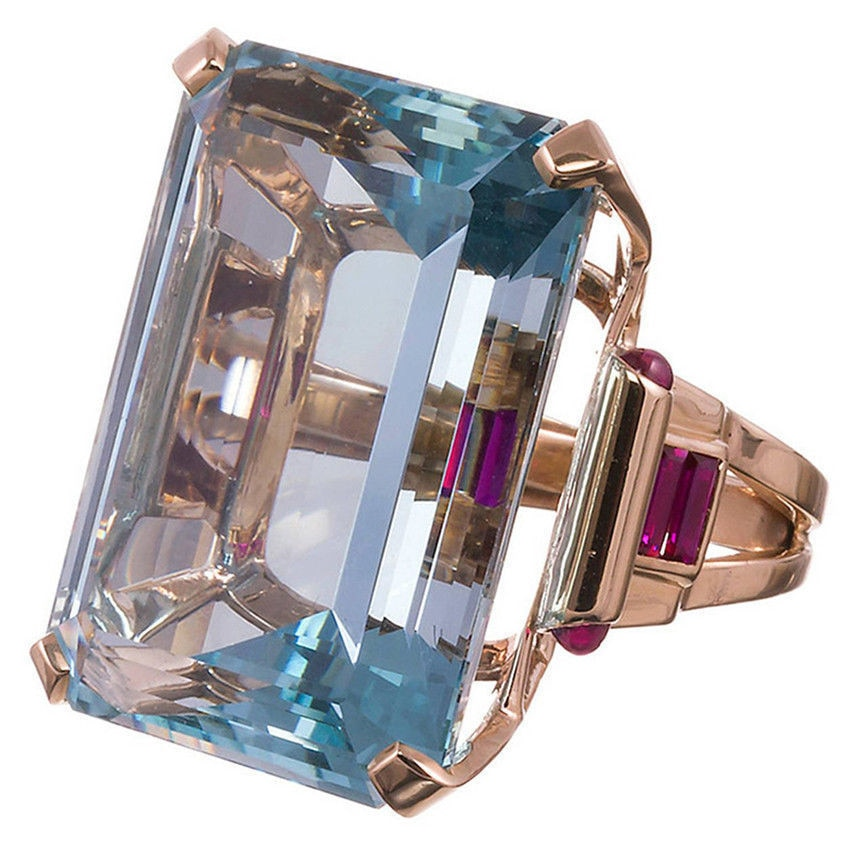 Sea Blue Topa Stone Diamond Rings Anillos Gold Jewelry Bague for Women Bizuteria pure Amethyst Sapphire diamond Gemstone Ring