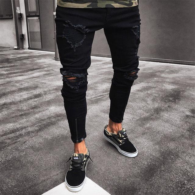 NEW Distressed Skinny Fashion Jeans