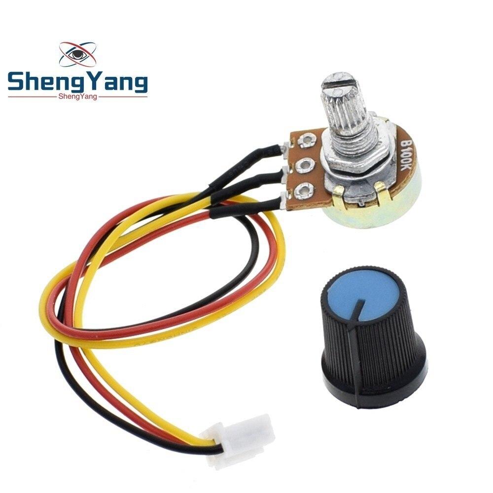 ShengYang 1pcs WH148 potentiometer B10K B100K speed control knob control switch XH2.54 3P linear control handle