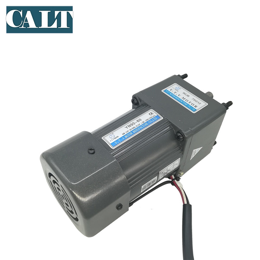 220v ac 40w low speed geared motor 70ktyz permanent magnet synchronous motor adjustable direction high torque low noise motor Low Noise YN90-90 220V VTV AC Gear Reducer Motor 90mm Micro Motor 90W High Rated Speed Single Phase Motor Factory Direct Sales