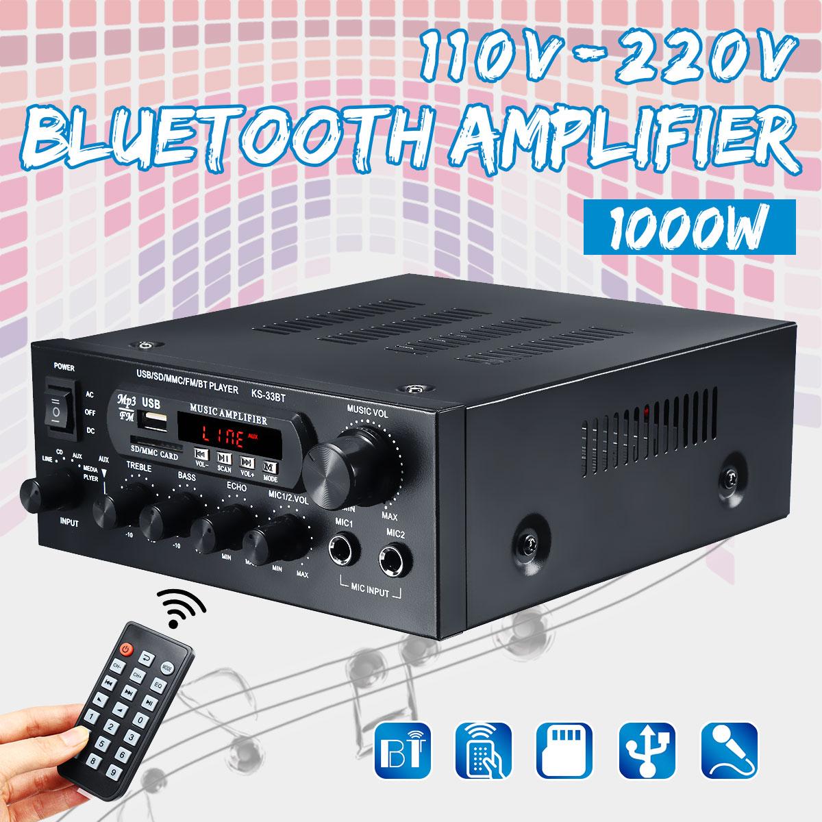 مكبرات صوت منزلية ، مضخم صوت جهير عالي الدقة ، 110 فولت ~ 230 فولت ، 1000 واط ، للمسرح المنزلي