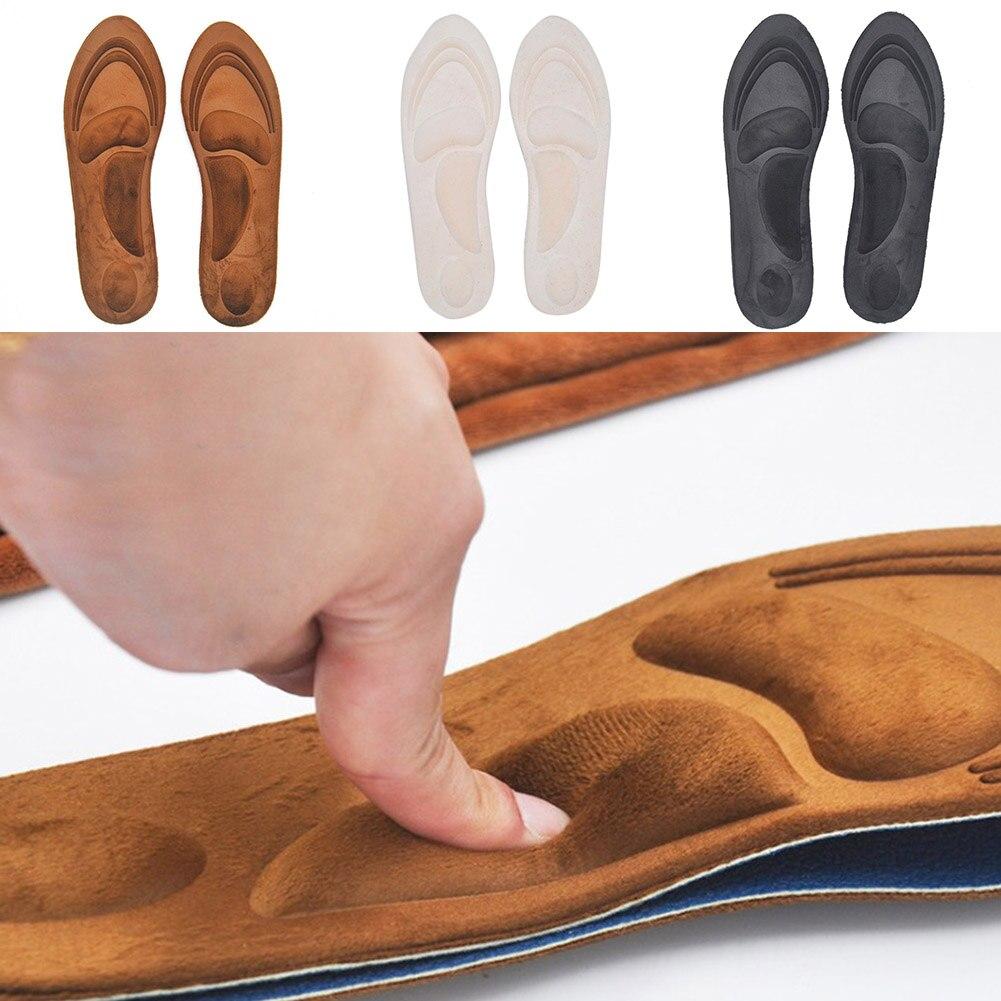 1 пара 4D бархатные ортопедические стельки из мягкой пены с эффектом памяти Удобные стельки для обуви на высоком каблуке, облегчающие боль вставки, подушечки для ухода за ногами